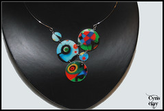 (Cynthia Gordillo) Tags: color design wire arte handmade ooak joan wear jewellery fimo clay memory mano miro diseo memoria unica kato artesania cernit acero embossing hecho pieza joya bisuteria polymer unico transferencia artesano premo exclusivo hechoamano arcilla artesana polimerica
