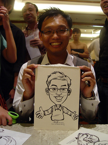 Caricature live sketching for wedding dinner 221109 - 11