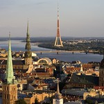 Riga: Old Riga Panorama with towers