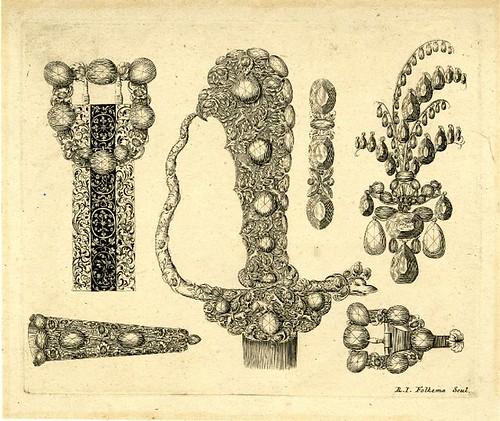 belt, sword hilt and jewellery designs