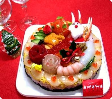Christmas Sushi Cake