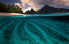 Underwater Ofu (AndersonImages) Tags: sunset beach michael paradise anderson overunder michaelanderson americansamoa underwaterphotography ofuisland nationalparkamericansamoa