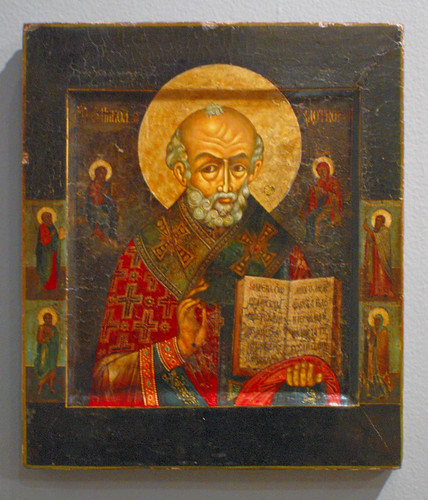 Russian Icon, at the Saint Louis University Museum of Art, in Saint Louis, Missouri, USA - Saint Nicholas 3