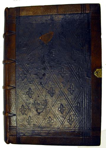 Front cover of binding, Mela, Pomponius: Cosmographia, sive De situ orbis
