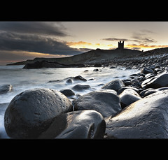 Snowy | Dunstanburgh (Reed Ingram Weir) Tags: longexposure sea snow seascape cold castle ice northumberland lee filters northeast dunstanburgh nikond700 09gndx2