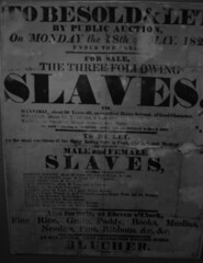 Slave advert, Cape Coast Castle museum