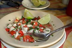 Ceviche at Cafe la Parroquia in Campeche