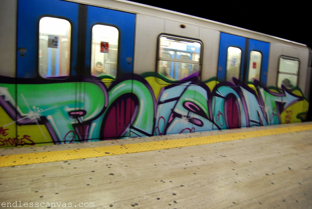 Poison Subway Graffiti in Rome Italy.