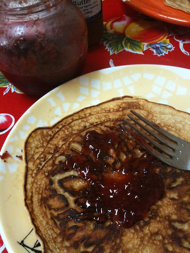 Swedish Pancakes with homemade strawberry jam