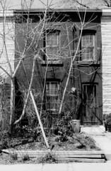 4 Crocker Ave - April 27, 2003 (collations) Tags: toronto ontario architecture blackwhite documentary vernacular streetscapes builtenvironment urbanfabric crockerave