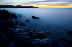 Flaggy Shore, Burren, Co. Clare, Ireland. (Burrenscapes) Tags: ireland sunset west rock set landscape boat rainbow clare co burren munster