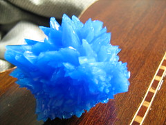 Copper Sulfate Crystal (Jess Marques) Tags: wood blue crystal copper coppersulfate sulfate