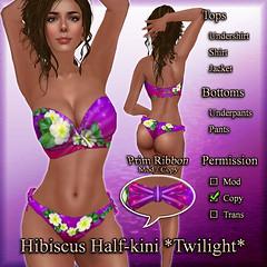 Hibiscus Half-kini (Twilight) Orchid