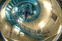Cleveland Public Library (IAmTheSoundman) Tags: blue ohio public stairs spiral jake library cleveland fisheye 8mm jakob hdr peleng barshick jakebarshick