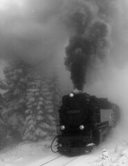 Ancient Times? (Frank Wuestefeld) Tags: old railroad travel schnee vacation blackandwhite snow mountains history station museum train trekking germany reisen europe mine technology hiking sightseeing eisenbahn zug bahnhof technik 100v10f steam nostalgia creativecommons historical oldtimer brocken hogwarts wald  wandern harz braunschweig nostalgie brockenbahn goslar dampflok wernigerode clausthal ferrocarril ferrovia sturm herzberg niedersachsen lowersaxony ilsenburg  eckertalsperre sieber torfhaus harzburg bergwerk   braunlage goetheweg schwarzweis schierke schmalspurbahn lauterberg harzbahn museumsbahn ferroviaire osterode odertalsperre andreasberg rbeland blackwhiteseries dampflook frankwuestefeld germanyseries