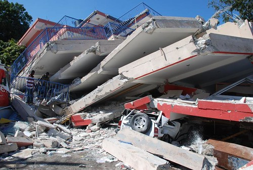 Large parts of Haiti's capital of Port-au-Prince have been destroyed by a 7.3 magnitude earthquake on 12 January. Photo taken on 15 January 2010.. Photo: IFRC/Eric Quintero