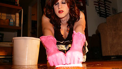 Scrubbing the Floor (Vera Wylde) Tags: home drag costume tv lashes cd crossdressing queen cleaning tgirl transgender housework domestic gloves tranny transvestite sword lipstick brunette blush dragqueen eyeshadow transgendered maid housewife crossdresser crossdress ts tg eyeliner submissive transgirl verawylde mrsmuscle