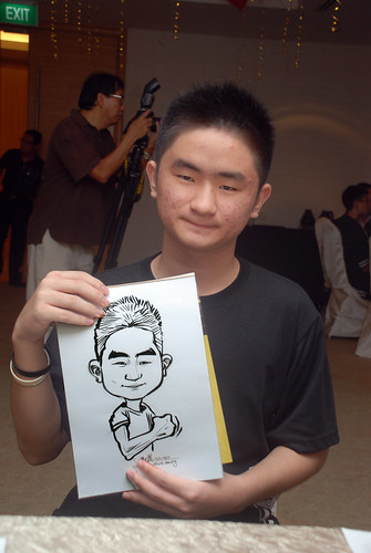 caricature live sketching for birthday party 220110 - 11