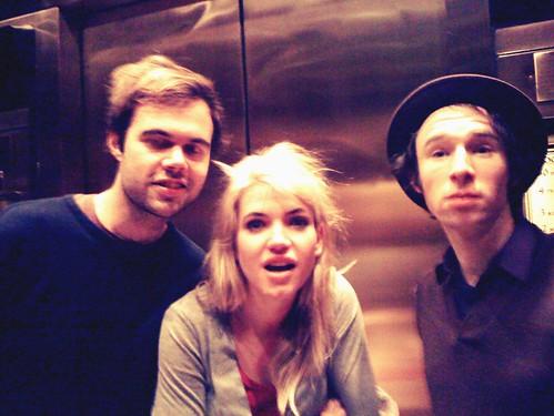 John, Patience, Lin in Elevator