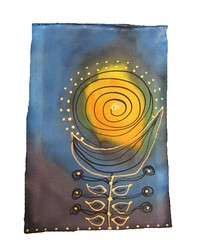 Levender silk bag (mimmaart) Tags: blue painting bag silk levender