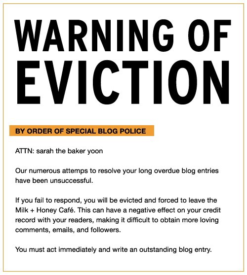 my own blog eviction