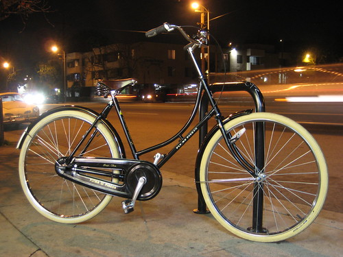This is our latest creation - a deluxe 5-Speed Flying Pigeon bicycle. Price? $749 as you see it here.