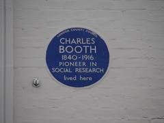 Photo of Charles Booth blue plaque
