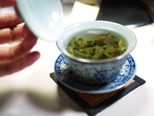 用蓋杯泡包種茶試試