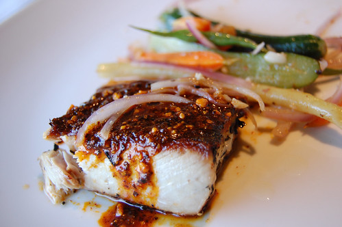 Yellowtail in Chili Casacabel Sesame Sauce