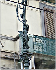Artistic lamp post (CameliaTWU (off for a while)) Tags: street italy building artistic balcony lamppost napoli naples metalpost