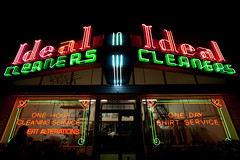 Ideal Cleaners, Plate 2 (Thomas Hawk) Tags: california usa america graffiti oakland neon unitedstates unitedstatesofamerica eastbay drycleaner idealcleaners blief