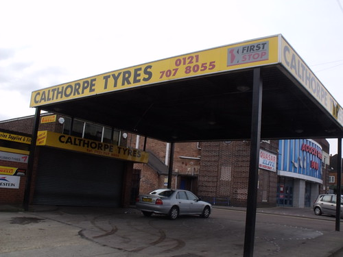 Calthorpes Tyres and Acocks Gren Bowl, Westley Road, Acocks Green (formerly The Warwick Super Cinema, then later the Warwick Bowl)
