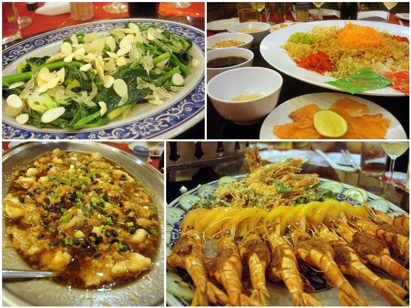 Prawns. Fish, Yee Sang