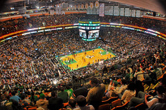 Boston Celtics and the Garden (Werner Kunz) Tags: cambridge usa game basketball boston america photoshop ball garden lens ma us nikon cheerleaders stadium massachusetts newengland atmosphere wideangle win lose ultrawide celtics hdr beantown miamiheat thegarden bostonceltics photomatix colorefex nikond90 topazadjust werkunz1