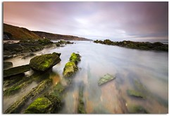 Burnmouth Rocks (blue fin art- 2 Million Views. Thank You!) Tags: sea scotland rocks harbour border algae burnmouth picnik nd1000 leefilter sescape canon7d