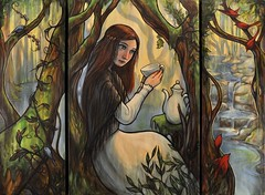 """Tea Leaf Reader"" : A Commission (verpabunny) Tags: original acrylicpainting kellyvivanco"