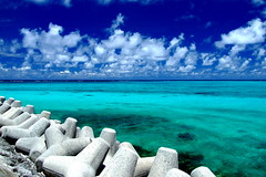 Recollect Okinawa (( _`) Sho) Tags: ocean blue sea summer sky cloud beach japan paradise okinawa   miyako