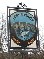 Horrabridge Village Sign West Devon (Bridgemarker Tim) Tags: signs salmon horrabridge devonbridges