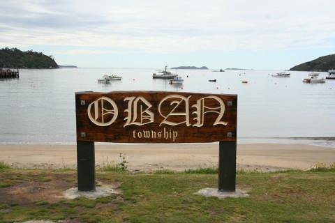 Oban beach front