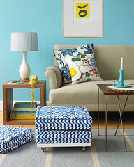 DIY Rolling Stool (It's Great To Be Home) Tags: diy pattern ottoman stool casters floorcushion