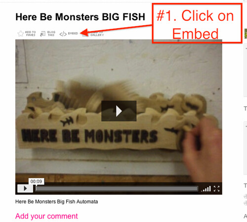 1 Embedding Flickr Video