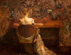 The Spinet, Thomas Wilmer Dewing, about 1902 (Tiz_herself) Tags: art washingtondc pianos museums 2010 d300 americanartmuseum thomaswilmerdewing spinetpianos