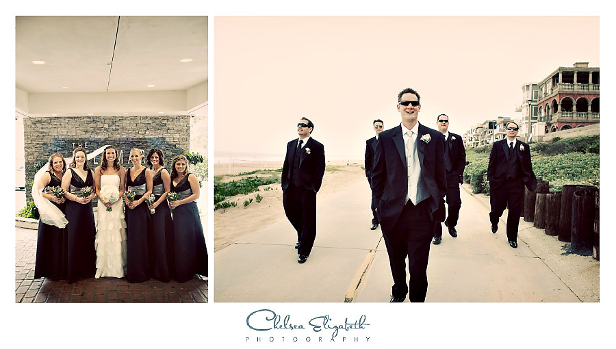 vintage manhattan beach bridalparty portraits