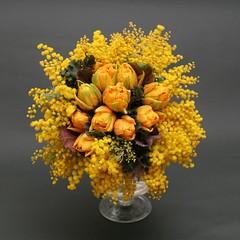 Mimosa & Tulip Bouquet (Kei's Flower) Tags: orange yellow catchycolors bouquet