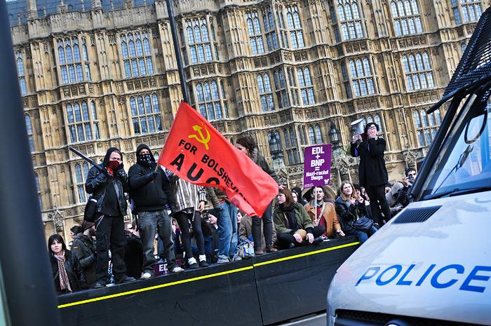 EDL march in support of Geert Wilders 05.03.10