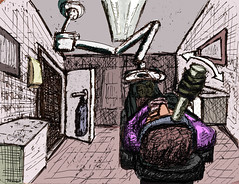 In the Dentist's Chair (With Cruel Contraption) -- Colour (3 of 4) #draw365