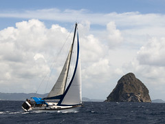 Great Wind All Sails Out, Diamond Rock, Martinique (Marie-Marthe Gagnon) Tags: sea white rock marie island sailing wind martinique marthe sails 15 diamond 200 second caribbean windward stlucia gagnon 15f diamondrock mariegagnon mariemarthegagnon mariemgagnon