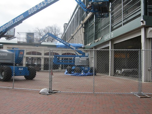 Wrigley Field Work: Scaffolding at Gate D