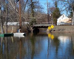Submerged Hobson Avenue, Wayne, New Jersey (jag9889) Tags: railroad bridge river boats puente march newjersey flooding crossing flood wayne nj bridges line ponte pont brcke njtransit 2010 njt passaiccounty montclairboonton y2010 hobsonavenue jag9889
