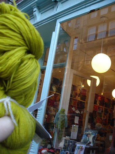 Purl Soho, and the yarn I bought there.